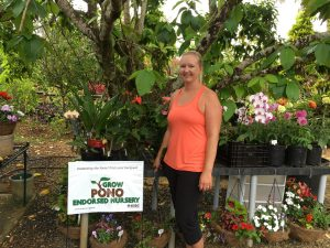 Serina - Owner of Kauai Seascapes Nursery Inc