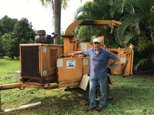 Steve Sico with his chipper